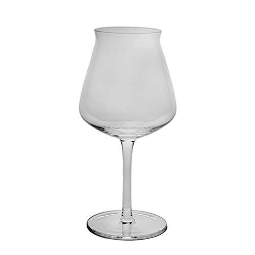 Tulip Goblet - Taza de cristal sin plomo hecha a mano con diseño de tulipán de cerveza de Teku, 330 ml