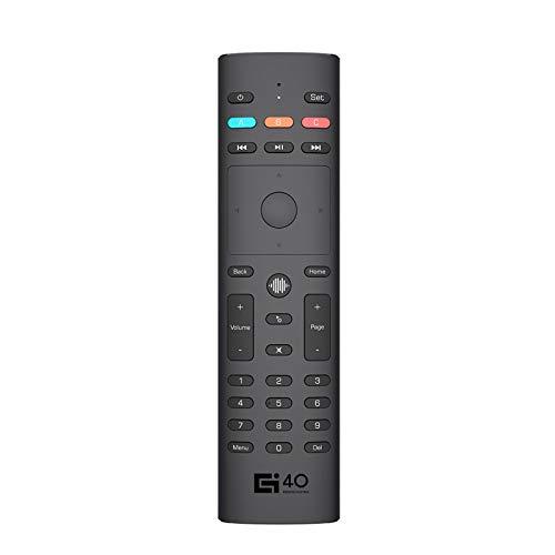 Moniclern G40S Smart Voice Air Mouse Giroscopio a 6 Assi Telecomando palmare Apprendimento IR Controllo vocale 3 modalità a infrarossi per Smart TV Android TV Box PC