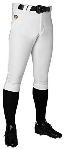 Descente DB1014P Baseball Uniform Short-fit Pants, white