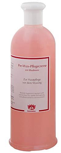 Kosmetex Pre-Wax Hautreiniger Gel-Creme mit Blaubeere zur Waxing Zuckern Enthaar Wachsen Vorbereitung, 500ml.