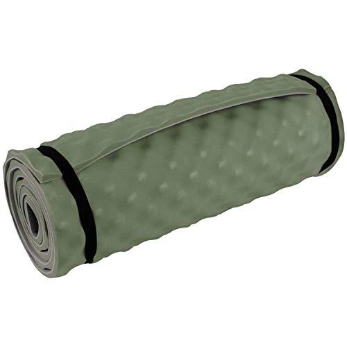 Highlander Komfort-Isomatte Leichte Isomatte zum Aufrollen Ideal für Camping, Festivals oder sogar Yoga-Workouts (Olive)