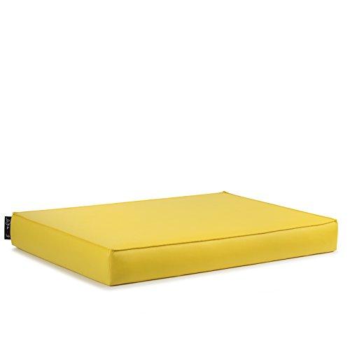 EXTOITALY Bavaro Free Coussin séance pour K511B mis. 82 x 122 H.11 cm divanetti en Palettes de Bois revêtement en Cuir synthétique PVC 10 Couleurs Disponible Jaune