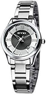 EYKI Fashion Classic Lover's Watch Table Quartz Steel Watchband EET8609 Women Female White