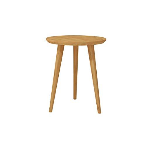 ZWD eenvoudige moderne kleine ronde tafel hoogwaardig massief hout robuust salontafel woonkamer slaapkamer balkon kleine tafel 2 stijlen meubel