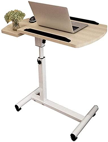Mobilny stojak na laptopa Biurko z regulowaną wysokością i kątem nachylenia Oddzielny stolik boczny na biurko Stolik nocny z rozkładanym stolikiem na kółkach