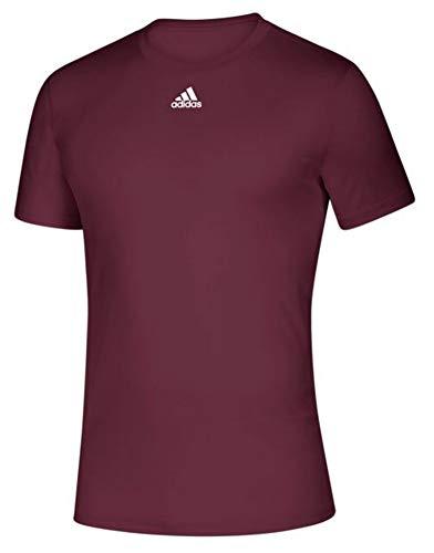 adidas Men's Creator SS Athletic Tee T-Shirt Moisture Wick Drop Tail (Maroon, M)