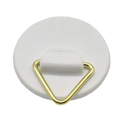 3 ganchos de plástico para colgar toallas, diámetro 30 mm, redondos, autoadhesivos, color blanco