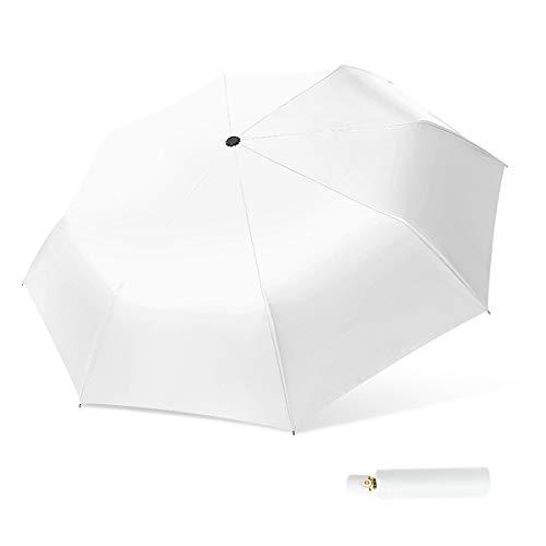 DORRISO Mujer Automático Apertura Cierre Paraguas Plegable Proteccion Solar Compacto Anti-UV Duradero...