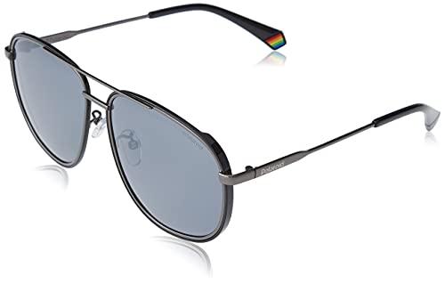 Polaroid PLD 6118/g/s Sunglasses, KJ1/EX DK Ruthenium, 59 Mens