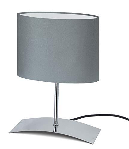 TrangoLámpara de mesa de diseño Lámpara de noche lámpara de escritorio Lámpara TG2018-04G'Eagle GREY' con pantalla de tela en gris