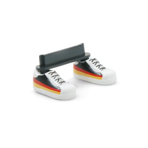 System-S Anti-Staub-Stöpsel Dust plug Ständer Standfuss im Deutschland Fußball Schuhe Design für iPhone 4 iPhone 4s
