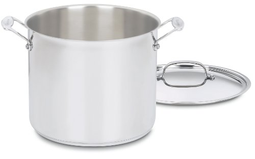 12-Qt Stainless Steel Stockpot with Lid
