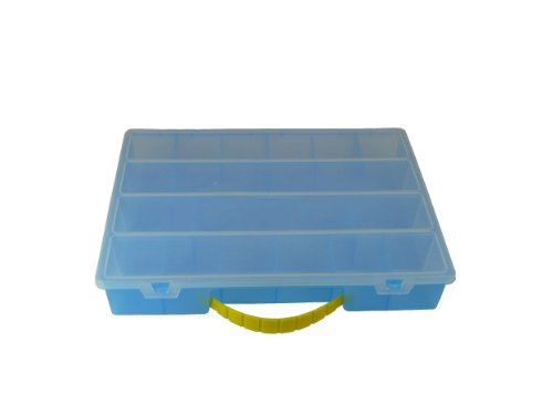 Romanoff Organizer Box, Large, Translucent Blue