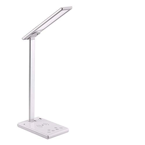 APRODUK Led Desk Lamp Dimmable Table Lamp with Fast Wireless Charger1H/2H Timer Table Lamp Smart...
