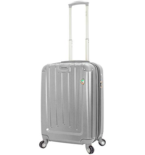 Mia Toro Orta Spinner S koffer, 60 cm, 46 liter, zilver