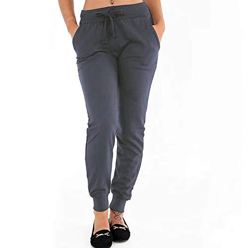 FRAUIT dames katoenen joggingbroek skinny hoge taille broek sweatbroek nonchalante jogger Bottoms Sport Plus maat