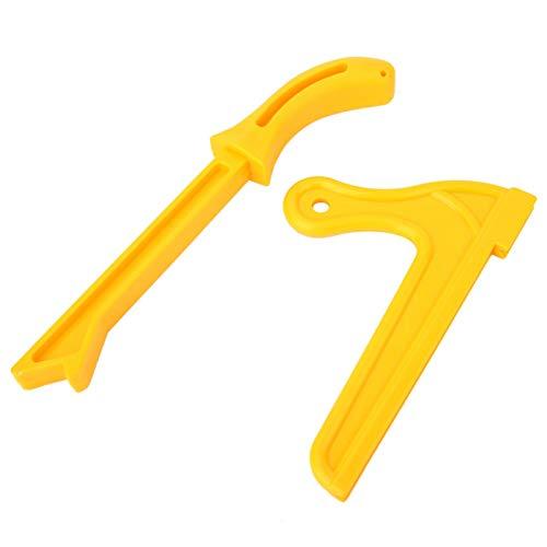 Bâton de poussée de scie à bois, bloc de poussée de sécurité, poussoir de travail du bois pratique, charpentier amateur jaune pour façonneur pour scie à table menuisiers