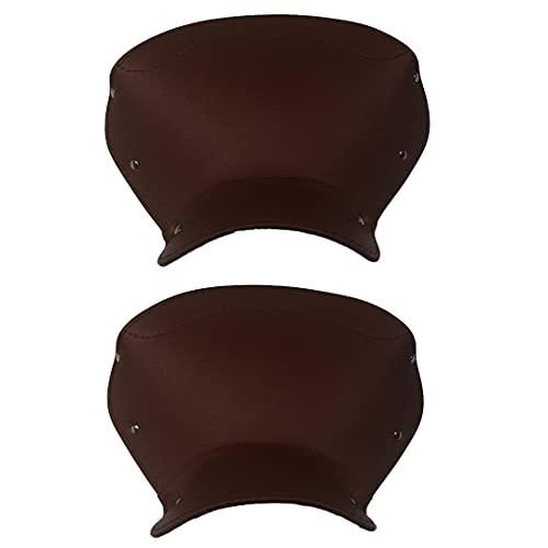 Par de fundas para sillín, color marrón para Lambretta D/LD 125 con texto en inglés
