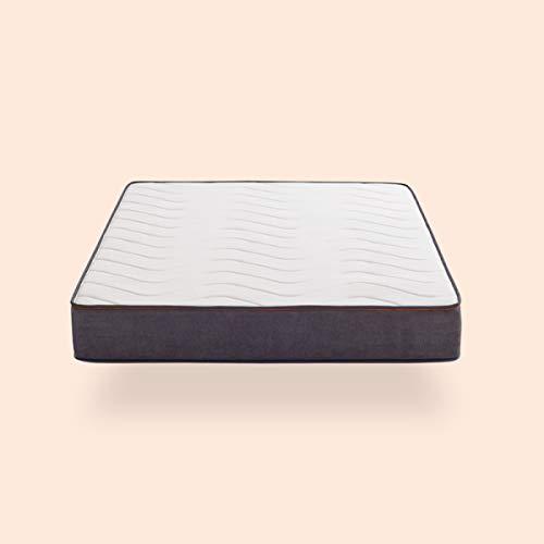 KHAMA Modelo Essential Basic | Muelles Ensacado con viscoelástica | Firmeza 8/10 | 28% Más Transpirable I Room Lux, 090X190x28