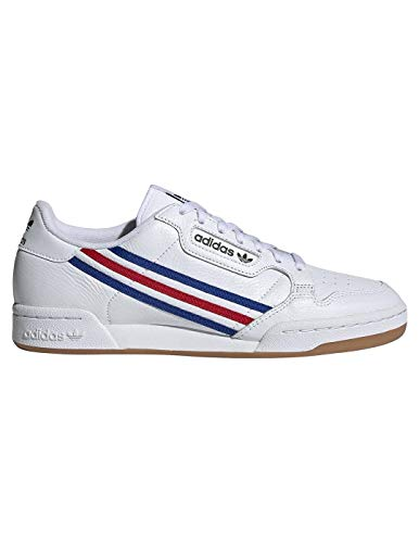 adidas Continental 80, Zapatillas Deportivas Hombre, FTWR White Team Royal Blue Vivid Red, 46 EU