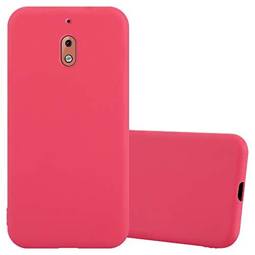 Cadorabo Hülle für Nokia 2.1 / Nokia 2 2018 in Candy ROT - Handyhülle aus flexiblem TPU Silikon - Silikonhülle Schutzhülle Ultra Slim Soft Back Cover Hülle Bumper
