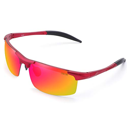 OSLOB gafas de sol polarizadas deportivas para mujeres hombres que completan operando protección uv lentes de conducción st002 (mrd)