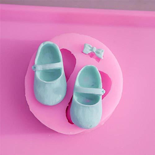 JNML strik schoenen siliconen chocoladevorm fondant cake decorating fimo hars klei snoep zeep schimmel keuken bakken tools, 2