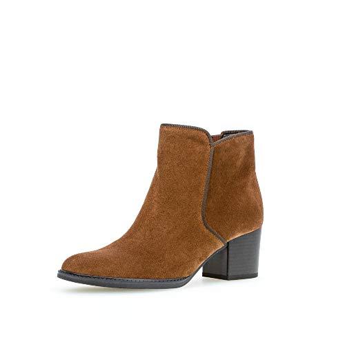 Gabor Damen Stiefeletten, Frauen Ankle Boots,Comfort-Mehrweite,Reißverschluss, uebergangsstiefel knoechelhoch leger,Whisky (Micro),39 EU / 6 UK