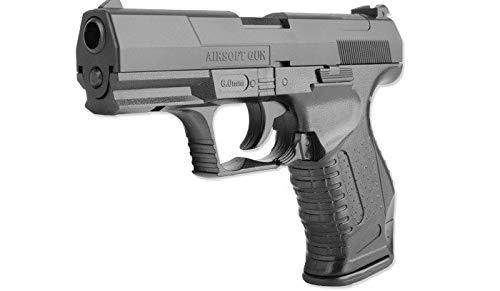 Pistola de Airsoft Replica de Walther. Sistema Muelle. Negro. Modelo P-99. Potencia 0,4 Julios