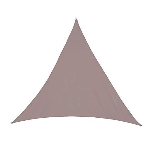 Fuyamp Edwiin Byron - Toldo de sol con cuerdas de sujeción, portátil, triángulo, protección solar, toldo para jardín, patio, piscina, toldo, camping, picnic (marrón)