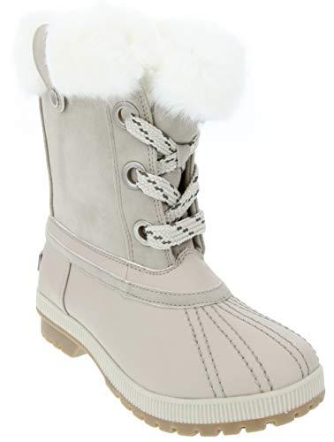 LONDON FOG Milly Schneestiefel für kaltes Wetter, wasserfest, Weiá (weiß), 38 EU