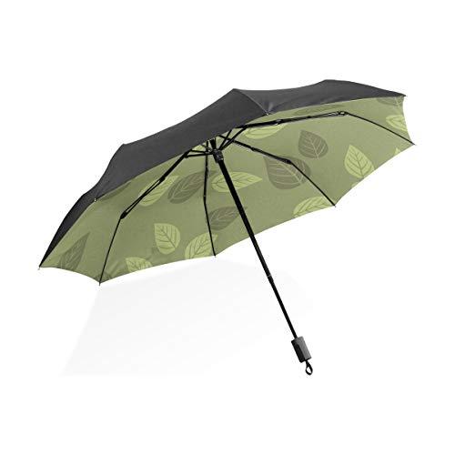 DEZIRO Green Leaves schilderij patroon buiten?Paraplu voor zowel zon en regen waterdicht