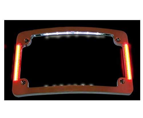 Custom Dynamics Chrome Tri-Radius All-in-One LED License Plate Frame TF06-C