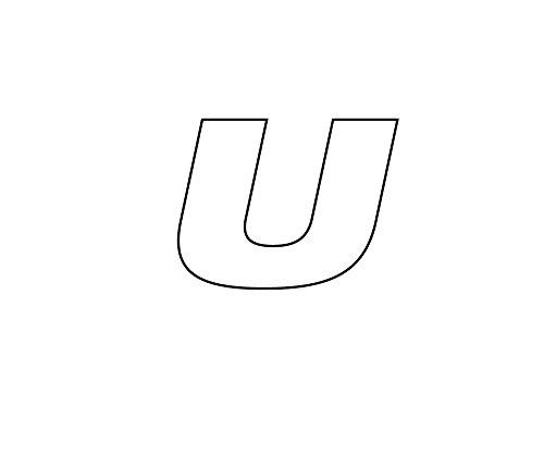 Simoni Racing aTU Tire Sticker Adhésif pour pneu, lettre U