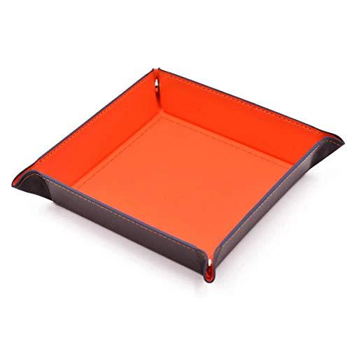 AOLVO Dice Rolling Tray, Eco Friendly PU Cuero Plegable Bandeja de Dados Joyera Telfono Celular Catchall Cambiar Llave Monedero Coin Box Bandeja