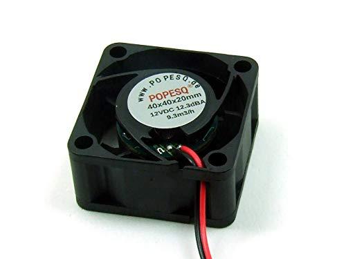 POPESQ® 1 Piezas x Ventilador Super Silencioso 12V 40mm x 40mm x 20mm 3D Impresora #A2667