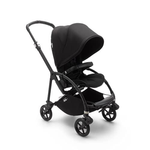 """Bugaboo Bee 6, carrito urbano ligero y compacto para recién nacidos y niños pequeños, barra de seguridad, ruedas de 7"""", suspensión avanzada, plegable y capota en color negro"""