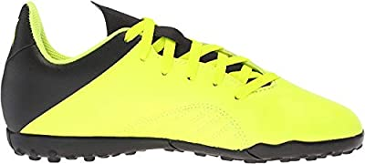 adidas Unisex-Kid's X Tango 18.4 Turf Soccer Shoe, Solar Yellow/Black/Solar Yellow, 6 M US Big Kid