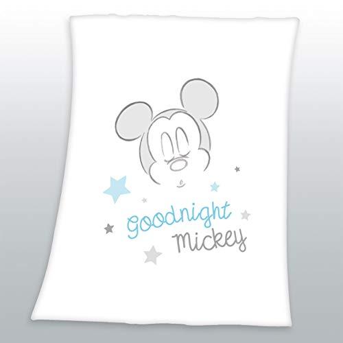 Arle-Living Flauschdecke Motiv : Mickey Mouse 75x100 cm Kuscheldecke Babydecke Schmusedecke Fleecedecke (Mickey Mouse)