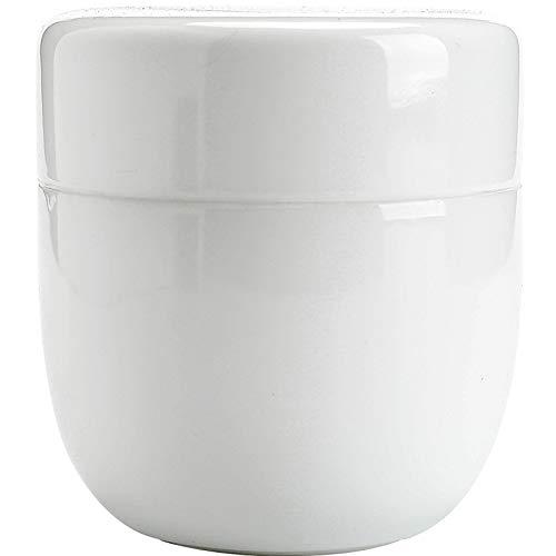 liangh Urns Bio Erwachsene Einäscherung Urne Für Asche Biologisch Abbaubar Urne, Weiß Keramik 8X 8X 8.5cm.