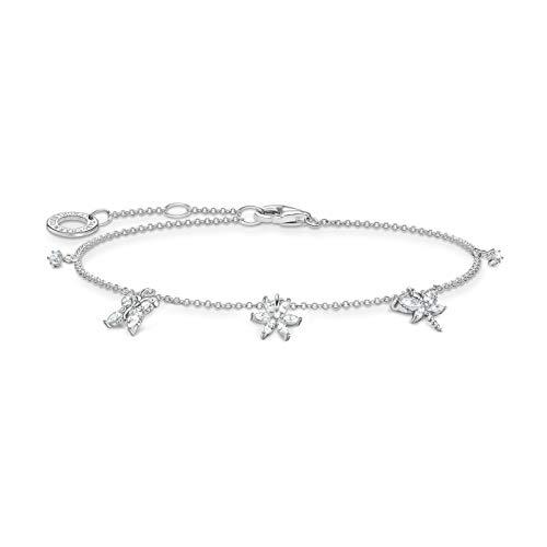 Thomas Sabo Ladies Sterling Silver 925 Other Form Cubic Zirconia Bracelet - A2027-051-14-L19v