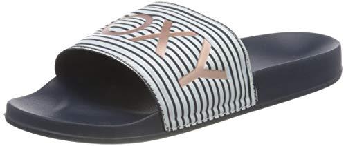 Roxy Slippy Sandal for Women, Sandalias deslizantes. Hombre, Azul índigo, 36 EU