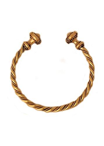 Battle-Merchant Bracelet celtique en bronze de qualité supérieure avec cordon style gothique LARP