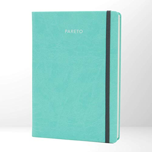 PARETO PLANER – Perfekt organisiert Ziele erreichen, Produktivität steigern, gute Gewohnheiten entwickeln | Mit undatiertem Kalender und Notizseiten | Mint