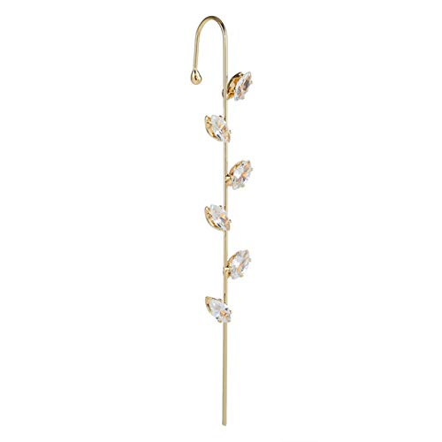 nilaogen Store Ear Wrap Crawler Hook Earrings, Ear Bone Clip Diagonal Stud Earrings, High Polished Hypoallergenic Design Classic Simple for Women Girls, Rose Gold