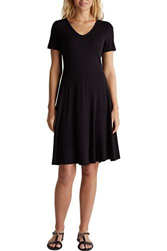 ESPRIT Damen 050EE1E342 Kleid, 001/BLACK, S