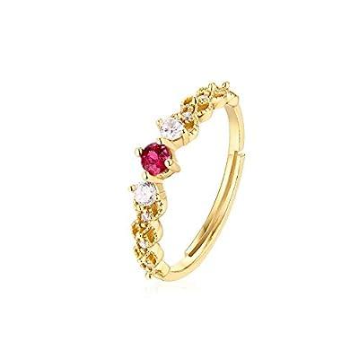 JIAXUN Ring 925 Sterling Silber Öffnung einstellbar natürlichen Smaragd Pulver Turmalin Blautopas eingelegten Zirkon Lady Ring, Lady Geschenk