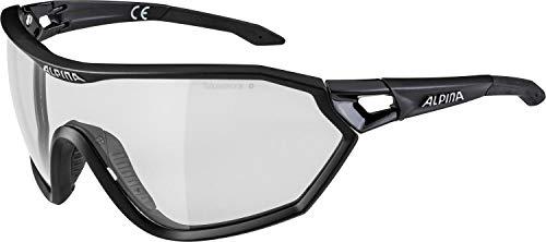 ALPINA S-WAY L VL+ Sportbrille, Unisex– Erwachsene, black matt, one size