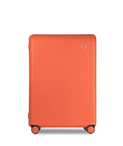 Echolac Fusion Suitcase, Large 76 cm Lightweight Luggage, Orange