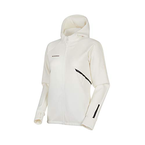 Mammut Damen Midlayer-Jacke mit Kapuze Avers Hooded, weiß, S